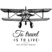to travel sticker poster|travelling quotes|for travellers|size:12x18 inch|multicolor