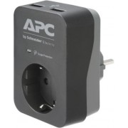 APC Essential SurgeArrest 1 Outlet 2 USB Ports Black 230V