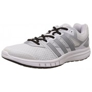 adidas Men's Galaxy 2 Wide M White, Black and Silver Mesh Running Shoes - 8 UK