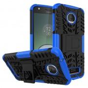 Capa Híbrida Antiderrapante para Motorola Moto Z Play - Azul