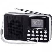 Портативно FM радио с MP3 плеър Diva, Черно, DWFMR