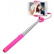 Selfie Stick Mpow Universal MBT22P Mini, Conectare prin Jack 3.5mm cu Declansator pe Maner (Roz)