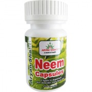 Aryanshakti Neem 500mg Capsules It helps in digestion skin disorder core fever ect.