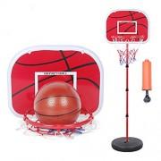 Queen-Ks Basketball Stands Height Adjustable Portable Basketball System Mini Kids Basketball Goal Hoop Toy Set
