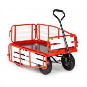 Waldbeck Ventura, ръчна количка, максимално натоварване 300 кг, стомана, WPC, червена (GDI7-Ventura-advanRD)