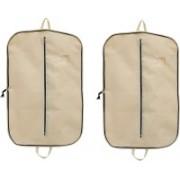 PRAHAN INTERNATIONAL Men's Coat Blazar Cover Bag Suit cover Pack of2 PIS-C2B042(Beige)