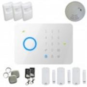 Kit alarme sans fil Gsm T4 + détecteur de fumée