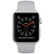 Apple Watch Series 3 42mm stříbrný hliník s mlhově šedým sportovním řemínkem