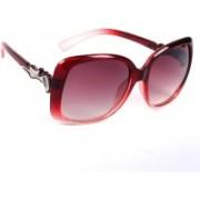 Eyeland Over-sized Sunglasses(Red)