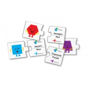 Joc de potrivire Forme si culori Learning Kitds, 40 piese tip puzzle