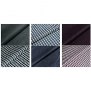 Kundan Sulz Gwalior Men's Executive Shirts and Fancy Formal Trouser Fabric Combo Set - Pack of 6 ( 3 Pant and 3 Shirt Pi