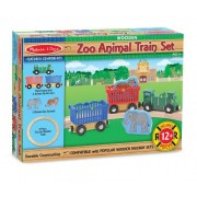 Melissa & Doug Zoo Animal Train Set, Multi Color