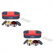 Carrolite Easy Carry 2 Black container Lunchbox Blue +Red Buy 1 get 1 Free