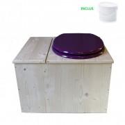 Toilette sèche - La Bac Violet prune