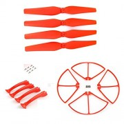 Generic Red : Rc Drone Accessory Propeller Landing Gear Propellers Protection For Syma X8c X8w X8g X8hc X8hg Quadcopter Spare Parts Blades