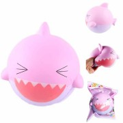 SanQi Elan Squishy Pink Shark 15cm Jumbo Slow Rising Soft With Packaging Collection Gift Decor Toy