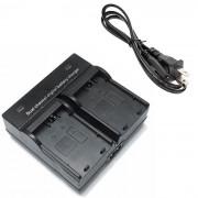 LPE5 camara digital cargador de bateria dual para Canon EOS 500D 1000D 450