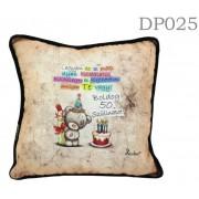 Boldog 50. szülinapot Macis DP025 - Díszpárna