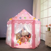 Dream Yo Kids Play Tent Kid Indoor Princess Castle Play Tent for children (3-piece set, pink)