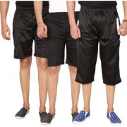 Swaggy Solid Mens Short Combo of 3