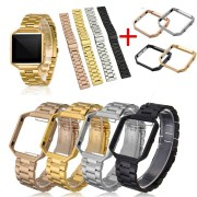 Stainless Steel Bracelet Wrist Band+Metal Frame For Fitbit Blaze Activity Tracker