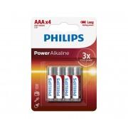 Philips LR03P4B/10 - 4 buc Baterie alcalina AAA POWER ALKALINE 1,5V
