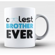 Grabadeal Beautiful White Coolest Brother Ever Coffee Mug Gift for Raksha Bandhan