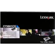 Lexmark C736H1CG azuriu (cyan) toner original