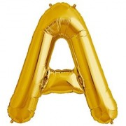 De-Ultimate 16 Inch Alphabet (A) Soild (Golden) Color 3D Foil Balloons For Birthday And Anniversary Parties Decoration