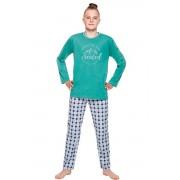 Pijama de băieți Leo verde 152