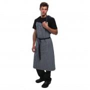 Chef Works Urban Portland Fine Stripe Bib Apron Indigo