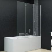 vidaXL Cabină de duș pliabilă, 3 panouri, 130 x 138 cm, ESG