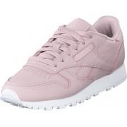 Reebok Classic Cl Lthr Ashen Lilac/white, Skor, Sneakers & Sportskor, Sneakers, Vit, Dam, 36