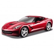 Bburago Modelauto Chevrolet Corvette rood 1:43