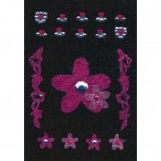 Merkloos Decoratie glitter stickers bloem