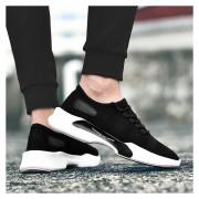 Hombres Zapatos Deportivos Transpirables Para Correr - Negro