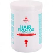 Kallos KJMN mascarilla para cabello frágil y dañado con aceite de coco, ácido hialurónico y colágeno 1000 ml