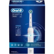 Periuta electrica Oral B Professional 4000 Cross Action, 2 capete (Alb)