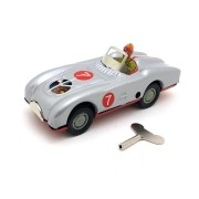 Classic Vintage Clockwork Racing Driver Wind Up Reminiscence Children Kids Tin Toys With Key