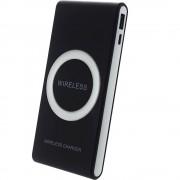 Acumulator extern Star 7000 mAh cu incarcare wireless Black