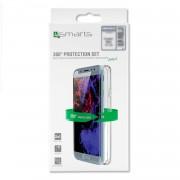 4smarts 360° Protection Set - тънък силиконов кейс и стъклено защитно покритие за дисплея на Nokia 5.1 (прозрачен)