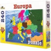 Puzzle Noriel 100 piese Harta Europei