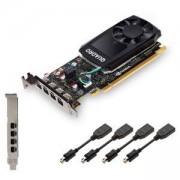 Видео карта PNY NVIDIA Quadro P600, 2GB, GDDR5, 64 bit, DisplayPort, PNY-VCQP600-PB