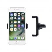 Shop4 - iPhone 7 Autohouder Verstelbare Ventilatierooster Houder Zwart