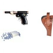 Prijam Air Gun B-007 Metal Body 300 Pellets Cover Air Gun Combo Offer