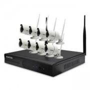 Комплект 8бр. външни безжични камери 1.3MP+NVR 8 канала, SEK208