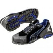 PUMA Safety Bezpečnostní obuv S3 PUMA Safety Rio Black Low 642750-47, vel.: 47, černá, modrá, 1 pár