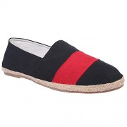 Live Ur Style Men Black n Red combi styled Espadrilles Casual Shoes