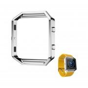 Reloj Del Metal Del Capítulo Para El Fitbit Blaze Reloj Smart Watch-Plata