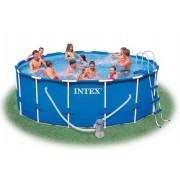 Intex - Басейн метална рамка 457 х 122см с филтърна помпа